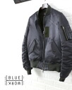 Blue Work (pedestrian) cotton nylon Ma-1 nylon down jacket blouson-54-08-45-08115-0171402