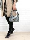 """TOFF &LOADSTONE (tough & Rhodes tones) embossed leather shoulder handbag """"Delice Lizard Dual""""-TL-3082-1471302"""