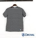 ORCIVAL( オーチバル オーシバル) cotton horizontal stripe short-sleeved boat neck cut-and-sew, RC-6774-0321301