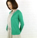 kanade (here) from rice cotton long sleeve crew neck Cardigan-69811-2001301