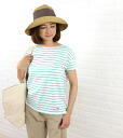 ORCIVAL( オーチバル オーシバル) cotton horizontal stripe short-sleeved boat neck wide cut-and-sew, RC-6829-0321301