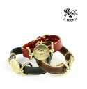 IL BISONTE( イルビゾンテ) model push leather brass concho bracelet .5402306297-0061301
