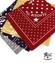 IL BISONTE (ilbizonte) cotton logo dot scarf bandana-5442409298-0061402