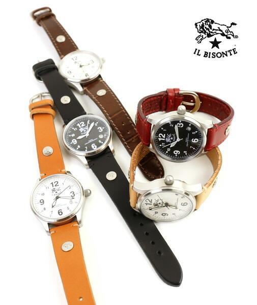 IL BISONTE(イルビゾンテ) レザー 型押しレザー カレンダー付き クォーツ式 腕時計 リストウォッチ(S)・5422310397-A  #ILBISONTE