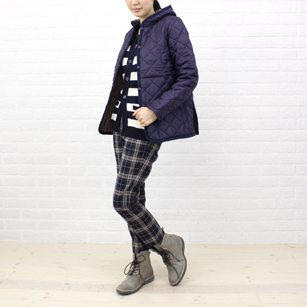 "Wearing image of LAVENHAM( ラベンハム) polyester food quilting jacket ""CRAYDON"", CRAYDON"
