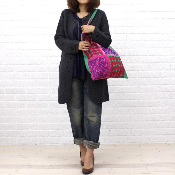 NIMES(ニーム) ウール  ポップコーン編み ノーカラー ニット  ロングコート・NLK3509042 の着用イメージ