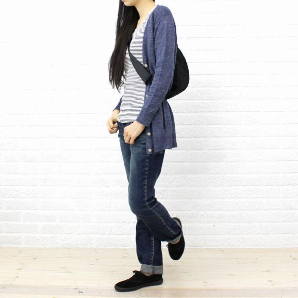 DEEP BLUE(ディープブルー) コットン ポリウレタン 10オンス 甘織 ストレッチデニム  スリムパンツ(ユーズド)・73600 の着用イメージ