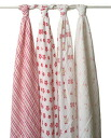 Aden+Anais (エイデンアンドアネイ) muslin cotton swaddling 4 piece set Posey