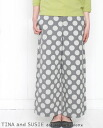Four colors of TINA and SUSIE Tina and Susie waterdrop jacquard culottes 14P170