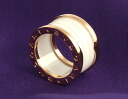 Bulgari BVLGARI ビーゼロワン ring ( ring ) white ceramic & pink (4 band) AN855564