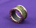 Bvlgari ビーゼロワン ring ボーエナイト green & pink AN856221