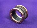 Bvlgari ビーゼロワン ring タバコブラウン & pink AN856226