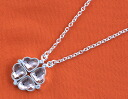 Folli follie FOLLIFOLLIE Crystal clover heart 2WAY necklace champagne Pink & Silver 3N1F006S