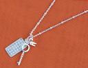 Folli follie FOLLIFOLLIE Crystal plate necklace silver 3N1F065C