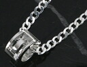 Gucci GUCCI G ring necklace sterling silver 223351