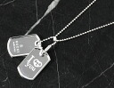Xmas sale ★ gucci GUCCI dock tag necklace sterling silver 286391
