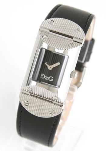 ドルチェ&ガッバーナ ツイード レザー ブラック レディース DW0325