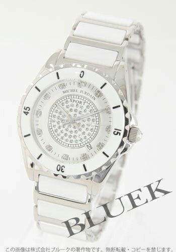 ミシェルジョルダン Jスポーツ 1Pダイヤ セラミック ホワイト メンズ EG7000WHM