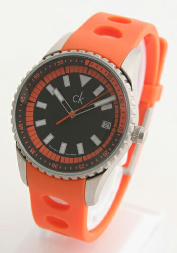 ck カルバンクライン チャレンジEXT ラバー オレンジ/ブラック メンズ K.32112.75