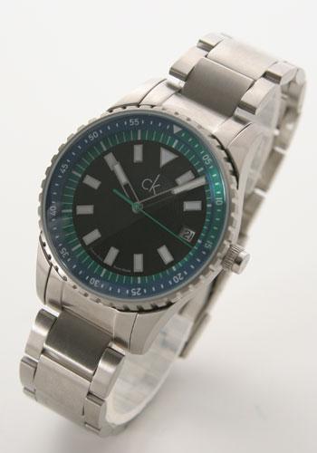 ck カルバンクライン チャレンジ ブラック&ブルー&グリーン メンズ K.32113.78