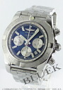 Brightman ring wind rider Kurono mat chronometer chronograph blue & silver men A011C88PA