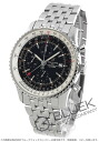 Rakuten Japan sale ★ Breitling Navitimer world chronometer chronograph black mens A242B26NP