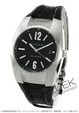 Bulgari Ergon automatic leather black mens EG40BSLD