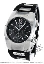 Bulgari Ergon automatic chronograph rubber black & silver / carbon black mens EG40BSVDCH