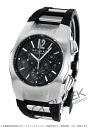 Bulgari Ergon automatic chronograph rubber black & silver / carbon black mens EG40BSVDCH