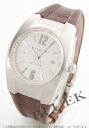 BVLGARI Elgon automatic alligator leather brown / silver men EG40C6SLD