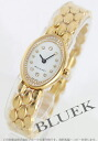 Bulgari oval YG pure gold Diamond White ladies mini OV27GG/12R