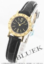 BVLGARI BVLGARI YG pure gold alligator leather black Lady's BB23BGLD