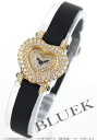 Chopard heart YG pure gold diamond サテンレザー black women 13/6638-23