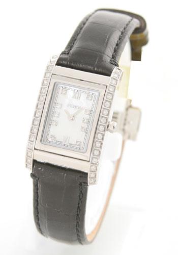 フェンディ ループ ダイヤモンド レザー ブラック/ホワイトシェル レディース F761241DDC