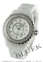 CHANEL sports J12 diamond bezel ceramic white Lady's H0967