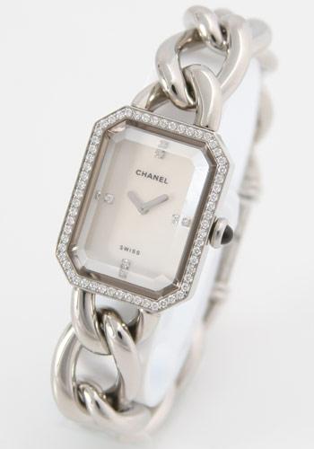 シャネル プルミエール ダイヤモンド ホワイトシェル レディース Sサイズ H1063