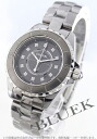 CHANEL sports J12 chromatic scale diamond index titanium ceramic gray Lady's H3241