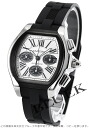 Cartier Roadster XL automatic chronograph rubber silver & Black Roman men's W6206020