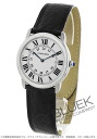 Cartier Ronde solo de Cartier leather Black / Silver mens W6700255