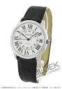 Cartier rondo solo XL automatic alligator leather black / silver men W6701010