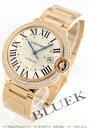 Rakuten Japan sale ★ Cartier Ballon blue PG LM pure gold DIA bezel automatic silver mens WE9008Z3