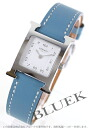 HERMES H watch leather blue Gene / white Lady's 036708WW00
