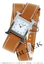 HERMES H watch do bulldog Tours leather brown / white Lady's 036717WW00(hermes watch watch new article woman business pretty fashion brand present gift present leather belt white she) who is pleased with