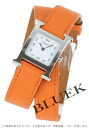 HERMES H watch do bulldog Tours leather orange / white Lady's 036719WW00(hermes watch watch new article woman business pretty fashion brand present gift present leather belt white she) who is pleased with