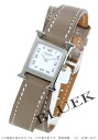 HERMES H watch do bulldog Tours leather beige / white Lady's mini-037884WW00