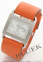 HERMES comes out; near reversible leather brown & orange / white Lady's