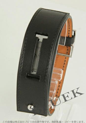 エルメス シェルシュ ミリー レザー ブラック/シルバー レディース CM1.210.220/VBN