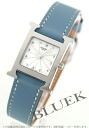 HERMES H watch leather blue Gene / white Lady's HH1.210.132/WJE