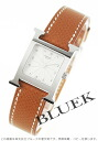 Rakuten Japan sale ★ Hermes H watch Leather Brown / silver ladies HH1.210.260/UGO