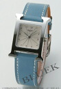 Hermes H watch leather Blue Jean / Silver ladies WJE HH1.210.260/WJE